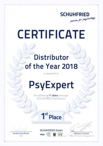 PsyExpert is Distributer of the Year 2018
